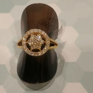 Gold Filled Fashion Ring Cubic Zirconia Size 6